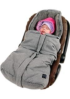 Babyschalenfu/ßsack Velvet Hoody grey