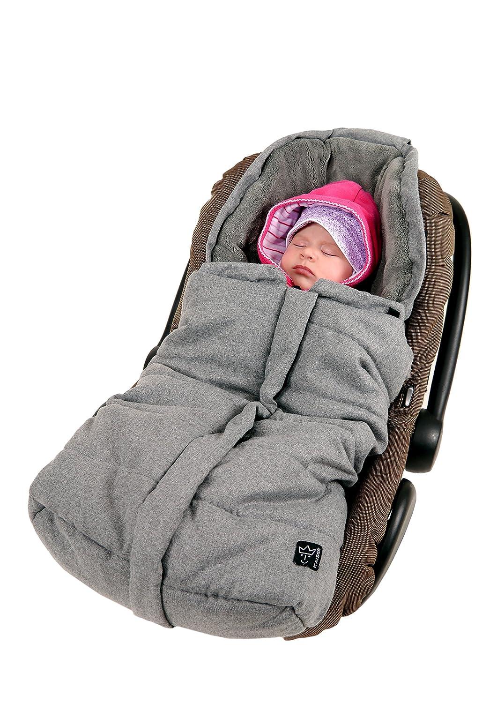 Kaiser 65338324 Babyschalenfußsack Ella, anthrazit melange