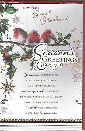 Husband christmas card merry christmas to my special husband husband christmas card merry christmas to my special husband traditional christmas robin on postbox m4hsunfo