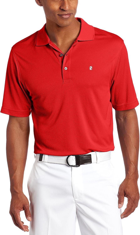 IZOD Men's Performance Golf Grid Short Sleeve Stretch Polo Shirt