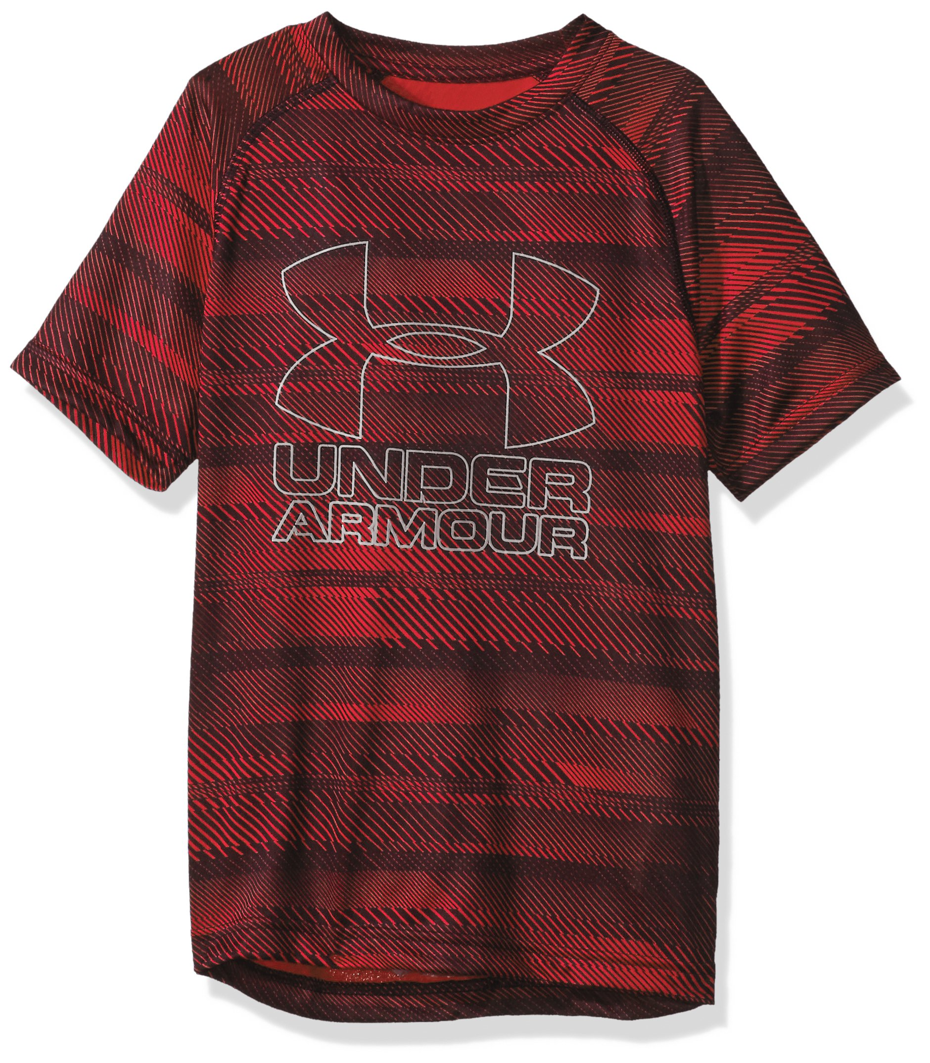 Under Armour Boys Big Logo Printed T-Shirt,Red /ST-Shirtl, Youth X-Small