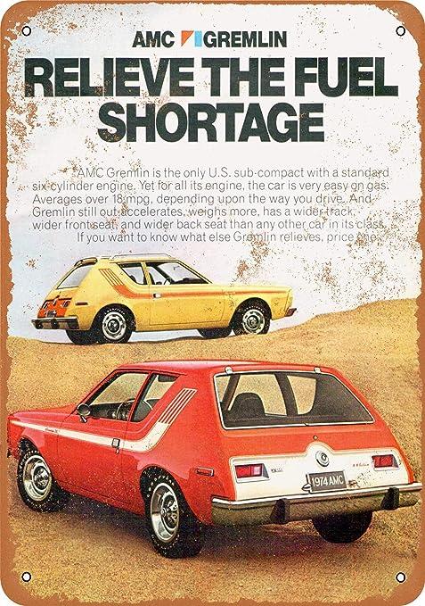 Amazon.com: CoareL 1974 AMC Gremlin - Placa decorativa de ...