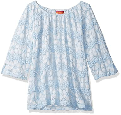 28fc61a2ebcf5 Amazon.com  Kate Mack Girls  Little Dainty Daisies Crochet Coverup ...