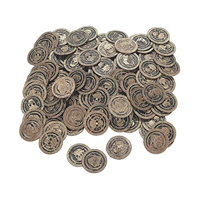 Fun Express - Pirate Coin (144pc) - Toys - Value Toys - Play Money - 144 Pieces: Toys & Games