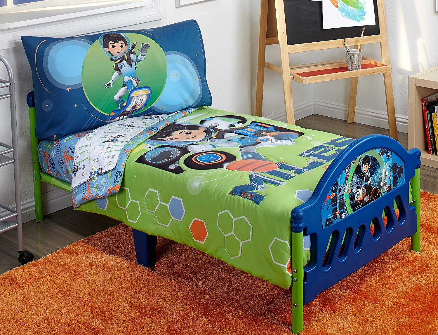 Amazon.com : Disney 4 Piece Toddler Bedding Set, Miles From Tomorrow Land :  Baby