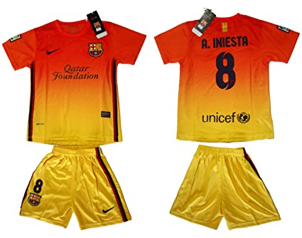 3b74e3812 Image Unavailable. Image not available for. Color  FC Barcelona 2012 - 2013  A.INIESTA Kids Away Jersey ...