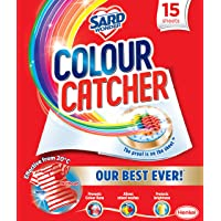 Sard Wonder Colour Catcher, Laundry Colour Run Protection Sheets for Mixed Washes, 15 Sheets, 15g
