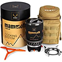 Primal Ridge Mammoth 1100ml Portable Solo Backpacking Stove. Piezo Ignition Propane Gas Jet Burner. Quick Camp Cooking…