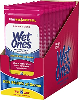 10-Pack Wet Ones Antibacterial Hand Wipes