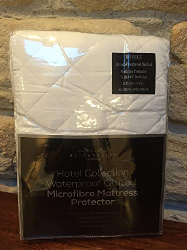 The Bettersleep Company Brand Waterproof Quilted Microfibre Mattress Protectors Double Bed- Hotel Quality Anti Dustmite, Waterproof, Absorbent, Breathable & Fully Fitted Extra Comfort
