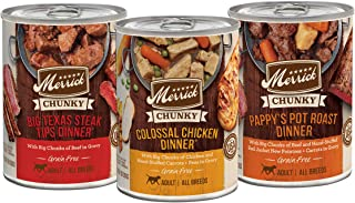 product image for Merrick Chunky and BBQ Grain Free Canned Wet Dog Food (Case of 12)