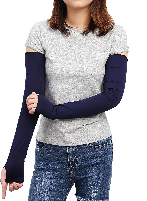 Watercolor Skull Calaveras Women Outdoor Sun Block Soft Long Arm Sleeve Fingerless Gloves