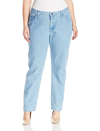 8471a4d7 Riders by Lee Indigo Women's Plus Size Camden Relaxed Fit 5 Pocket Jean,  Classic Blue