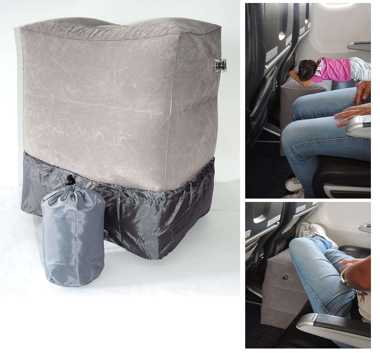 枕for Kids onフライト、飛行機フットレストの子供、jetkids Bedbox、フットレストスリークッション。 B0749R7VK8