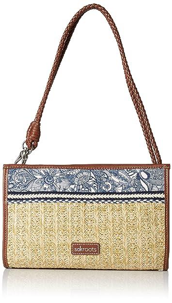 Sakroots Roma Mini Straw Crossbody (Tan Wildlife) Cross Body Handbags s5Snit