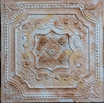 Amazoncom Pl04 Faux Tin Finish Decorative Fancy Design
