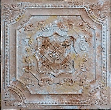 Amazon.com: Pl04 Faux Tin Finish Decorative Fancy Design Distressed ...