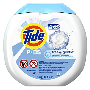 tide pods free gentle he turbo laundry detergent pacs unscented