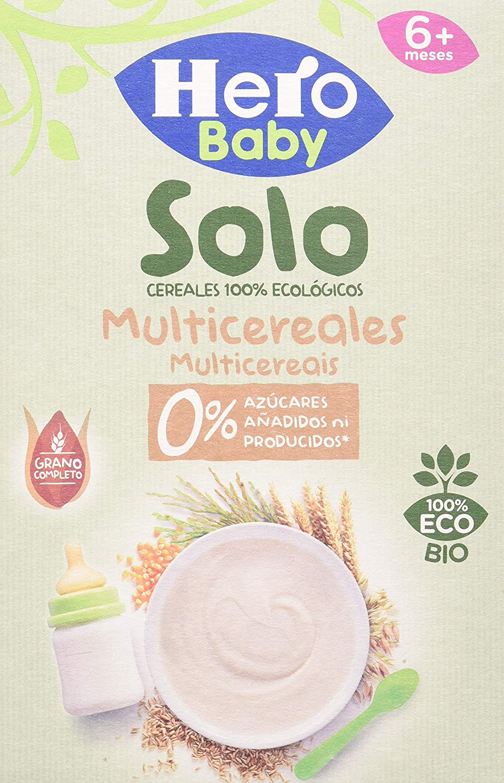 Hero Baby Solo Multicereales Papilla procedente de Agricultura Ecológica Pack de 6 x 300 g