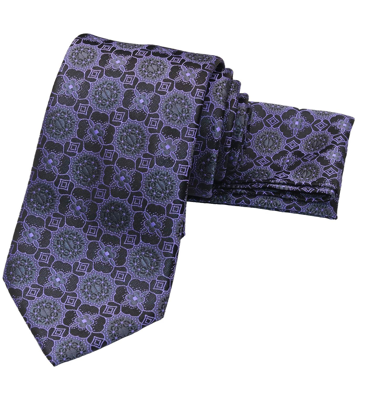 WITZROYS Juego de corbata y bolsillo cuadrado hombre, para bodas ...
