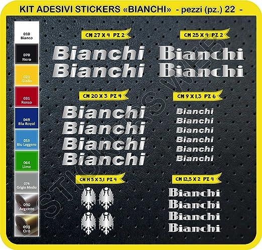 11 opinioni per Adesivi Bici BIANCHI Kit adesivi stickers 22 Pezzi -SCEGLI SUBITO COLORE- bike