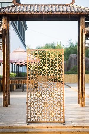 kayee® Biombo, archaistische Durchbrochene estrellas decoración moderna, Biombo decorativo pared exterior de pared