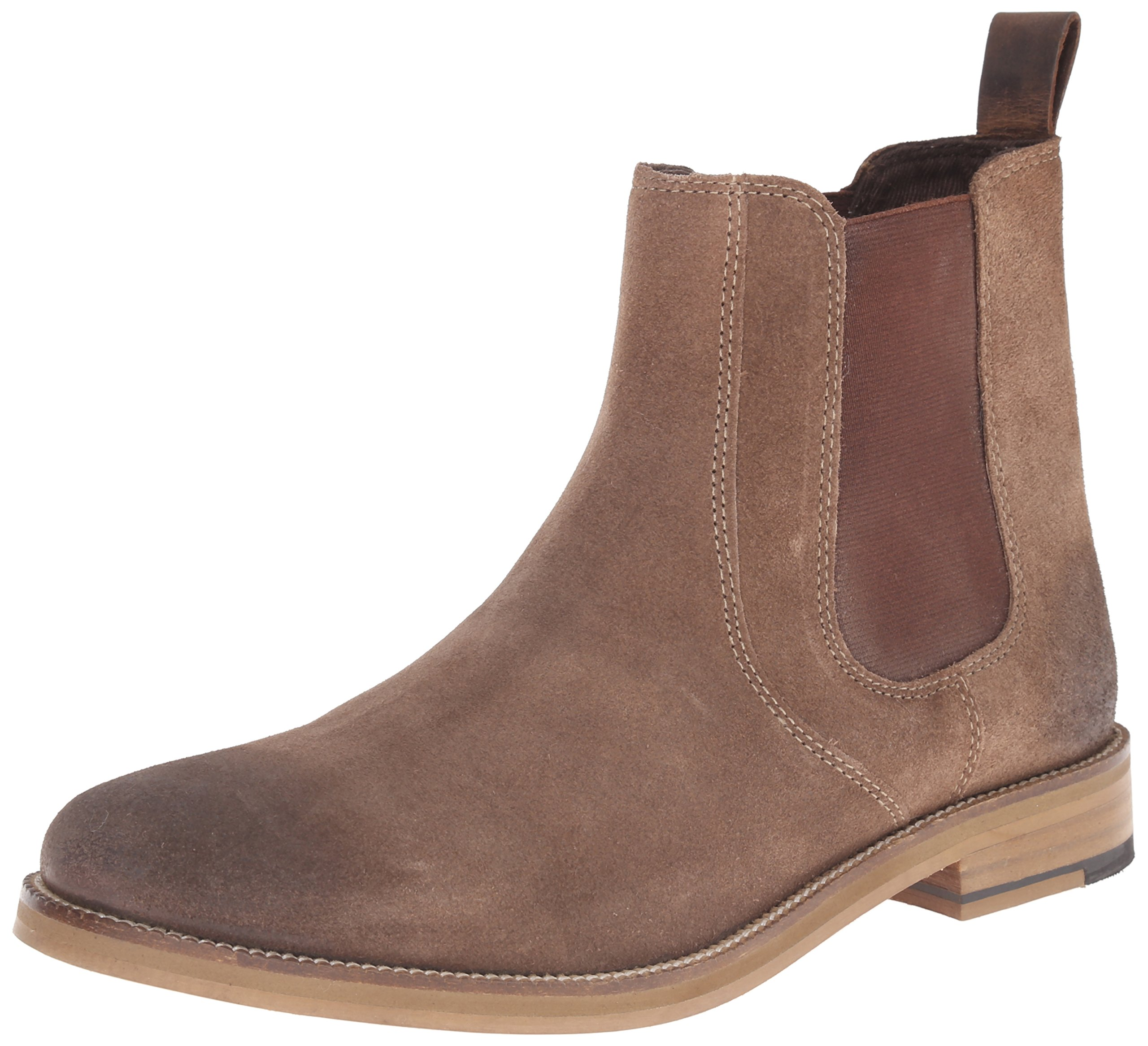 Crevo Men's Denham Chelsea Boot, Brown Suede, 12 M US by Crevo