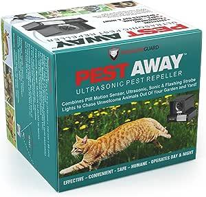 Suitable for Garden Farm Paddock Ultrasonic Pest Repellent Outdoor Adjustable Frequency Ultrasonic Animal Repellent Solar Powered /& Waterproof Rat Fox Cat Birds Dog Repellent Cat Repellent
