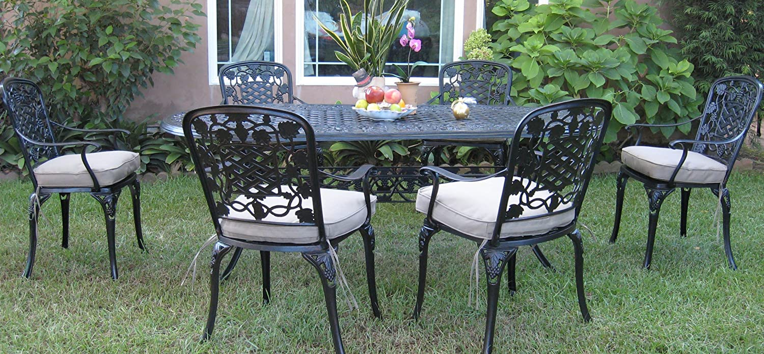 Amazon Outdoor Cast Aluminum Patio Furniture 7 Piece Dining Set F CBM1290 Garden