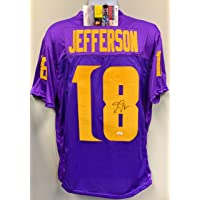 $149 » Justin Jefferson Minnesota Vikings Signed Autograph Custom Jersey Purple W Yell # JSA Rookie Signature COA