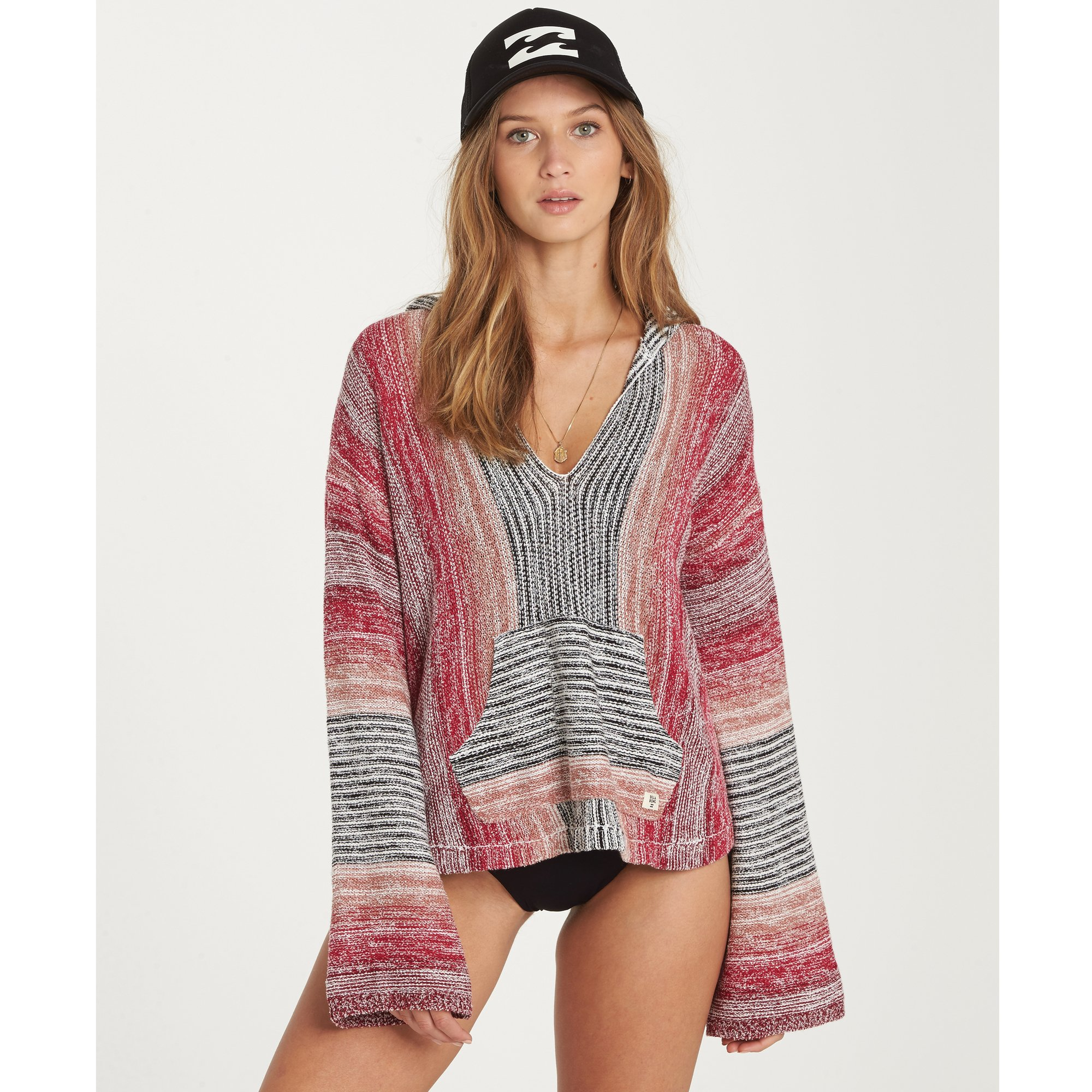 Billabong Women's Baja Beach Sweater, White Cap, L