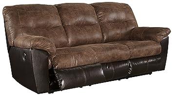 Ashley Furniture Signature Design - Follett Overstuffed Upholstered Reclining Sofa - Contemporary - Coffee