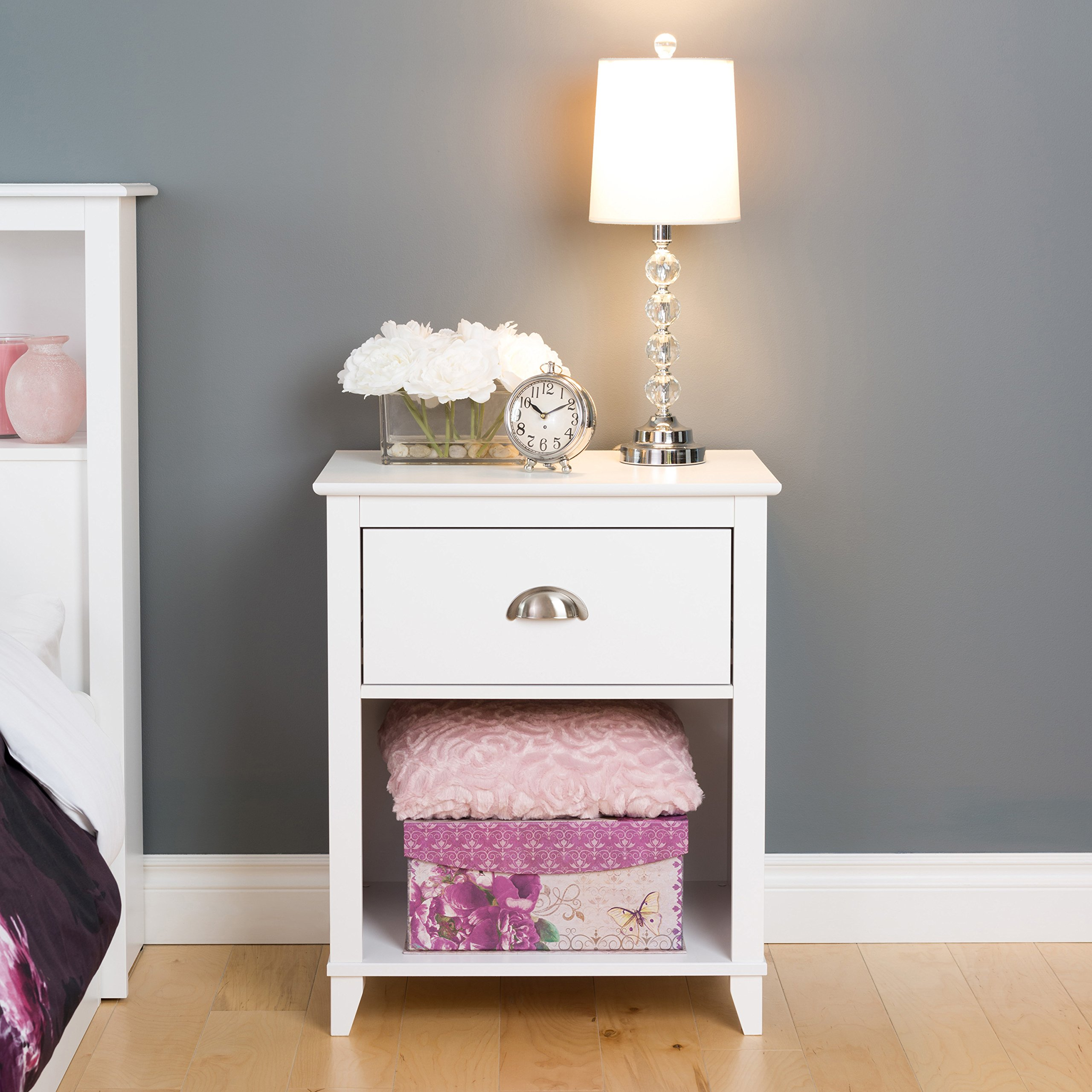 Prepac Yaletown 1 Drawer Tall Nightstand, White by Prepac