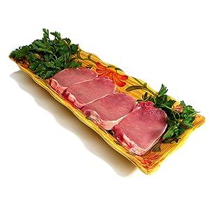 """All Natural Pork Loin Center cut Chops Boneless 8- 1"""" thick"""