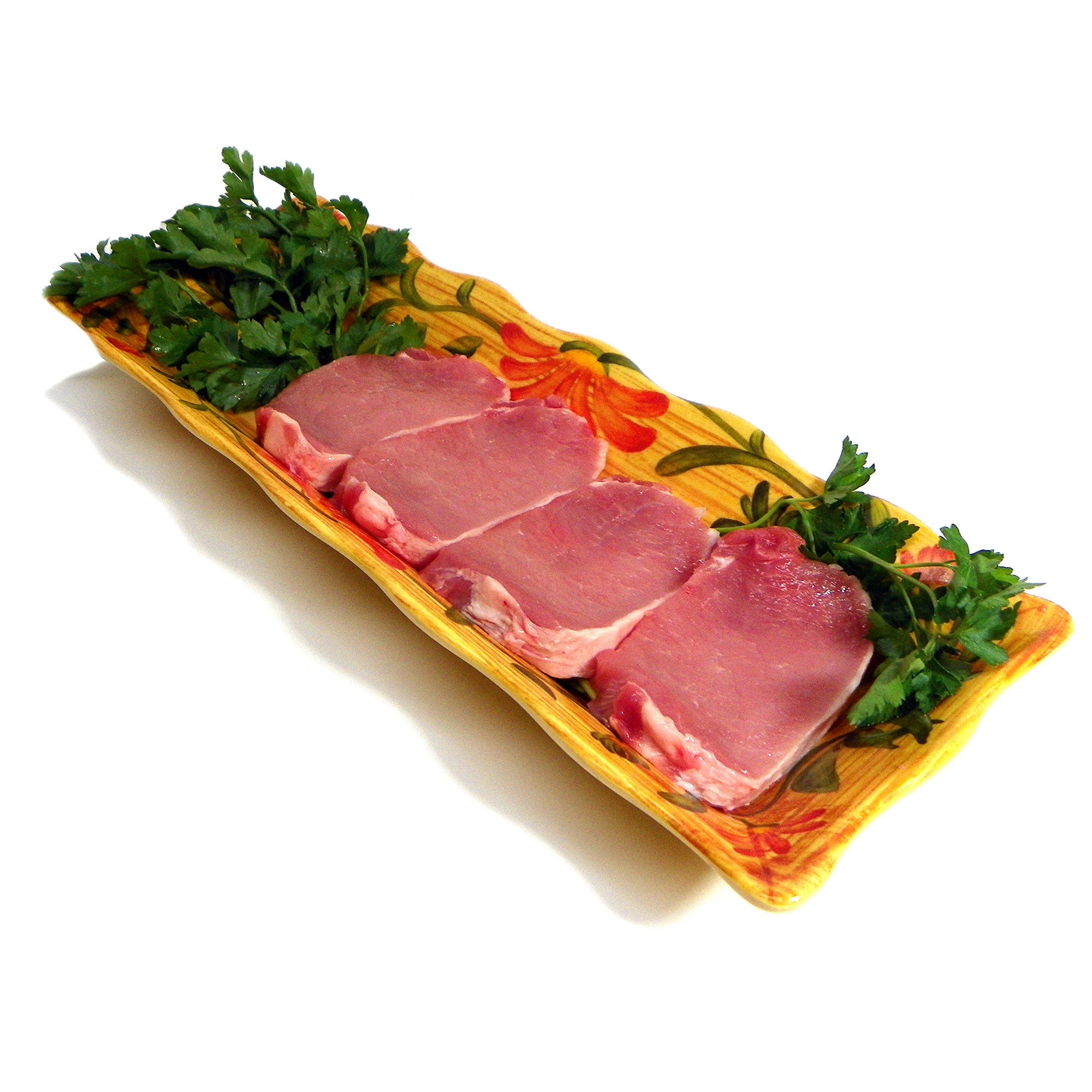 All Natural Pork Loin Center cut Chops Boneless 8- 1'' thick