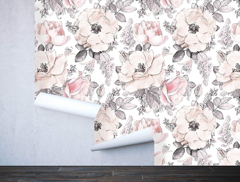 Amazon.com: Papel pintado extraíble para pared, diseño ...