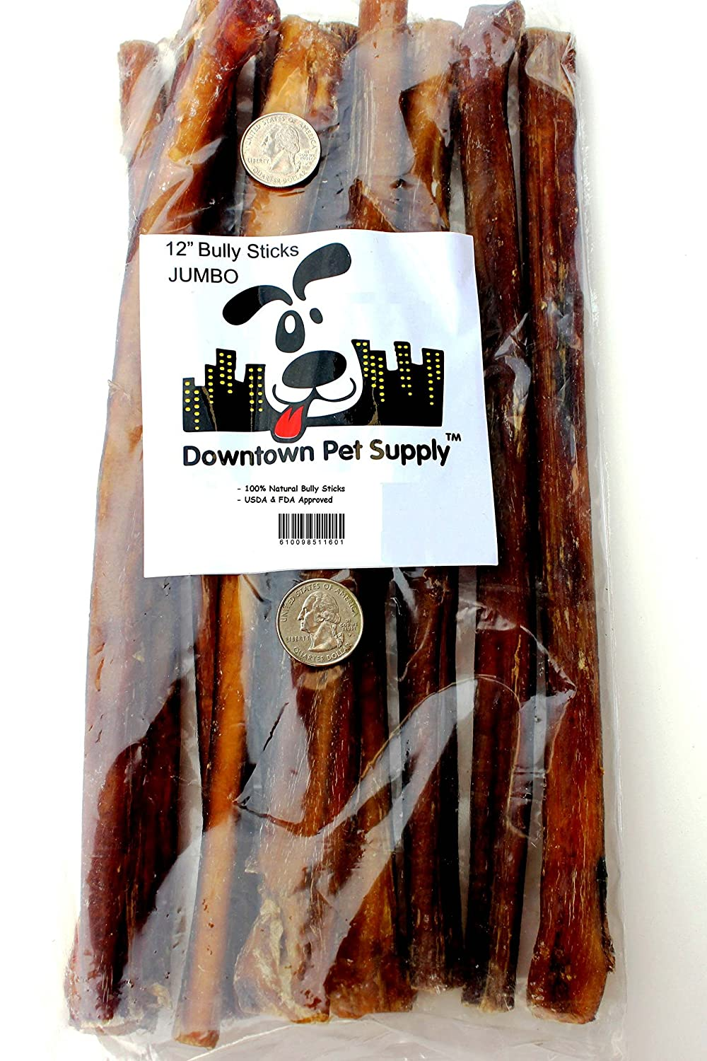 "12"" inch Supreme Bully Sticks, JUMBO EXTRA THICK - Downtown Pet Supply"