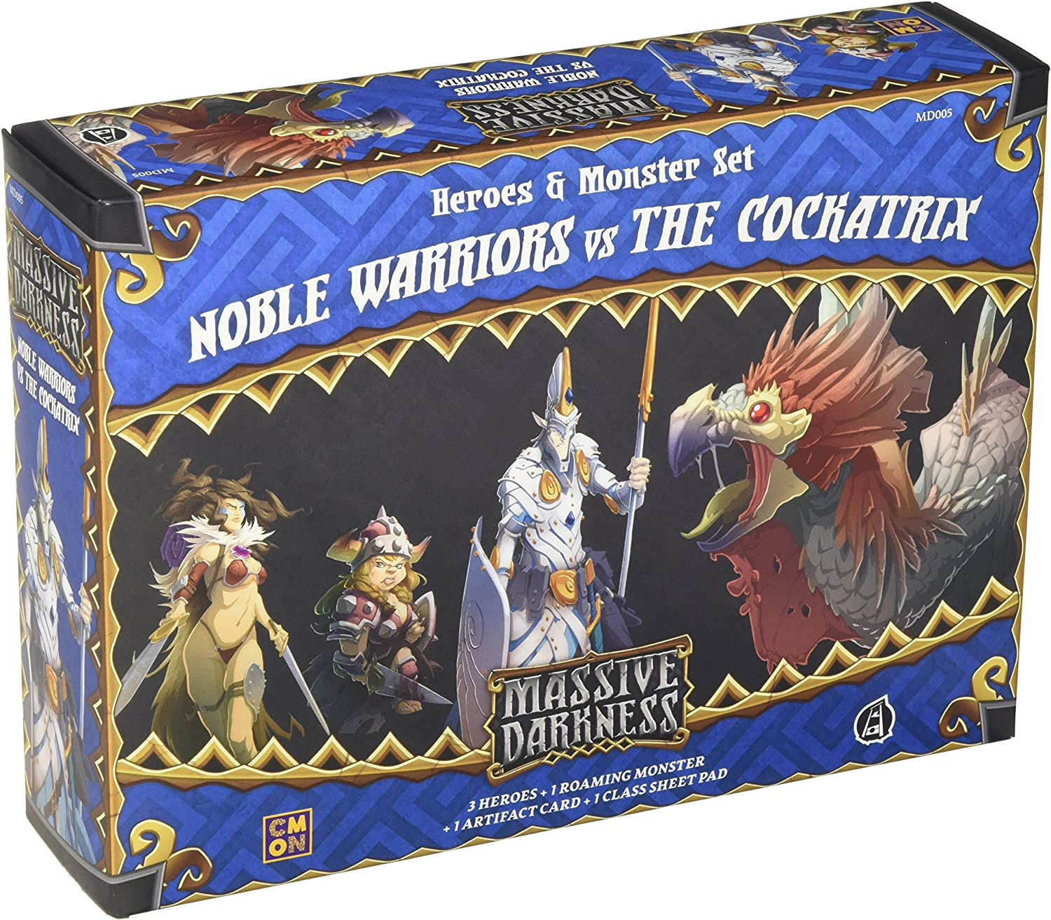 CoolMiniOrNot CMNMD005 Noble Warriors vs The Cockatrix: Oscuridad Masiva, Multicolor: Amazon.es: Juguetes y juegos