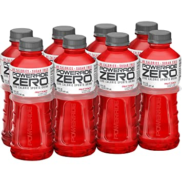 POWERADE ZERO, Zero Calorie Electrolyte Enhanced Sports Drinks, Fruit  Punch, 20 fl oz