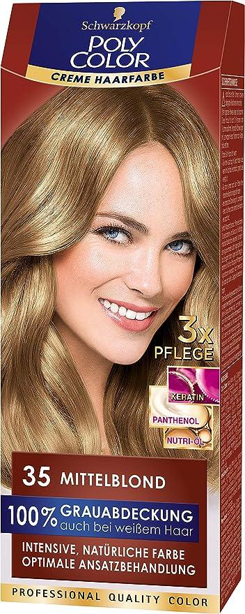 Schwarzkopf POLY COLOR - Tinte para el cabello (rubio medio, 115 ml)