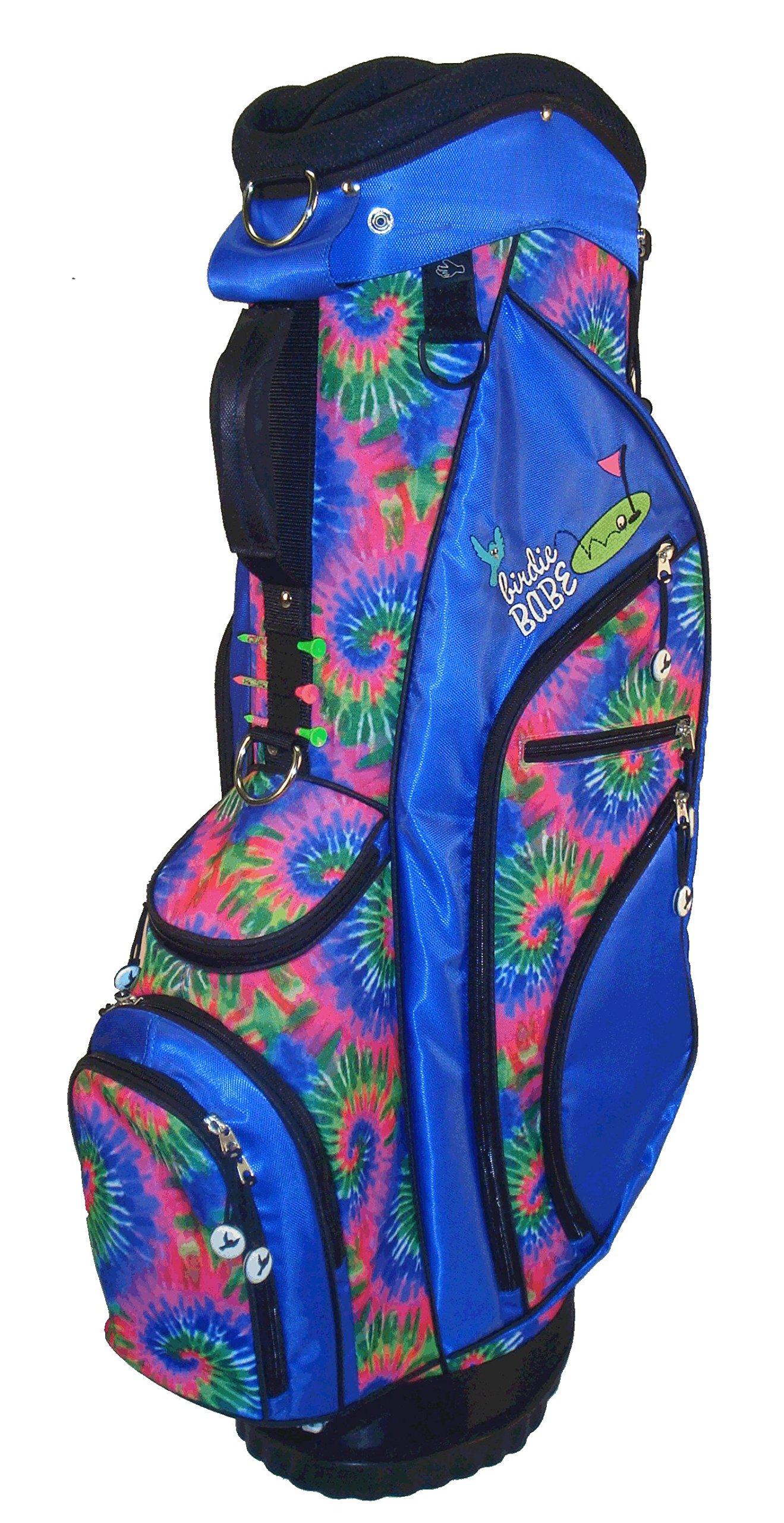 Birdie Babe Womens Hybrid Golf Bag Kool Karma Blue Tie Dye Ladies Golf Bag