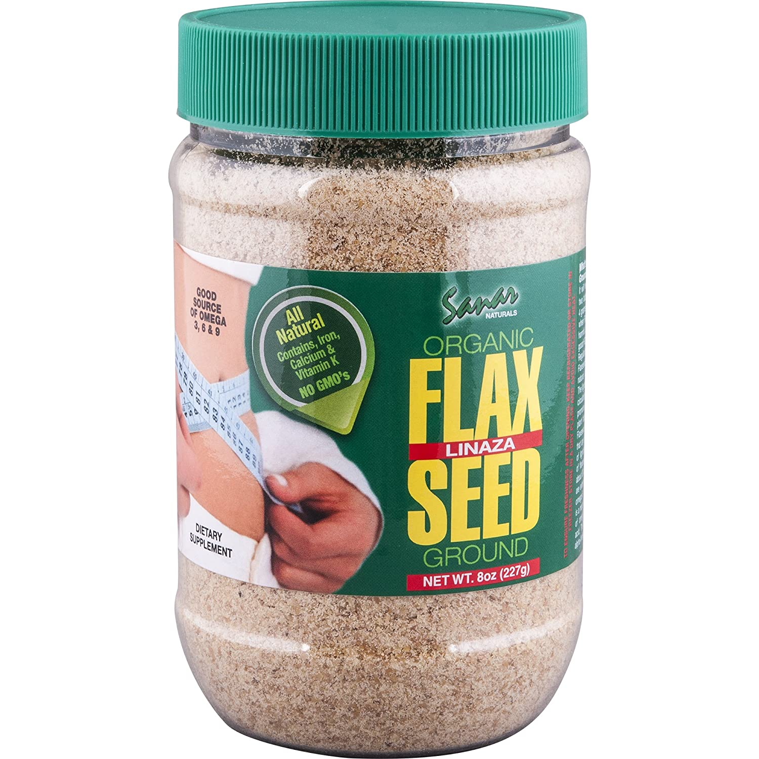 Amazon.com: Sanar Naturals Organic Ground Flaxseed, 8 Ounce (3 Pack) - Semilla de Lino Molidas, Linaza, Great Source of Omega 3,6,9, Dietary Fibers, ...