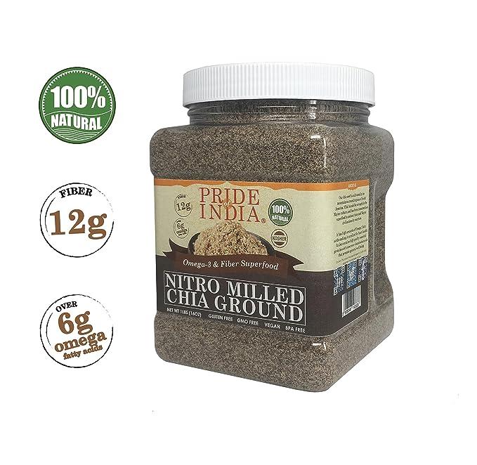 Pride Of India prima para negro de chia harina de harina de semilla de frío molida