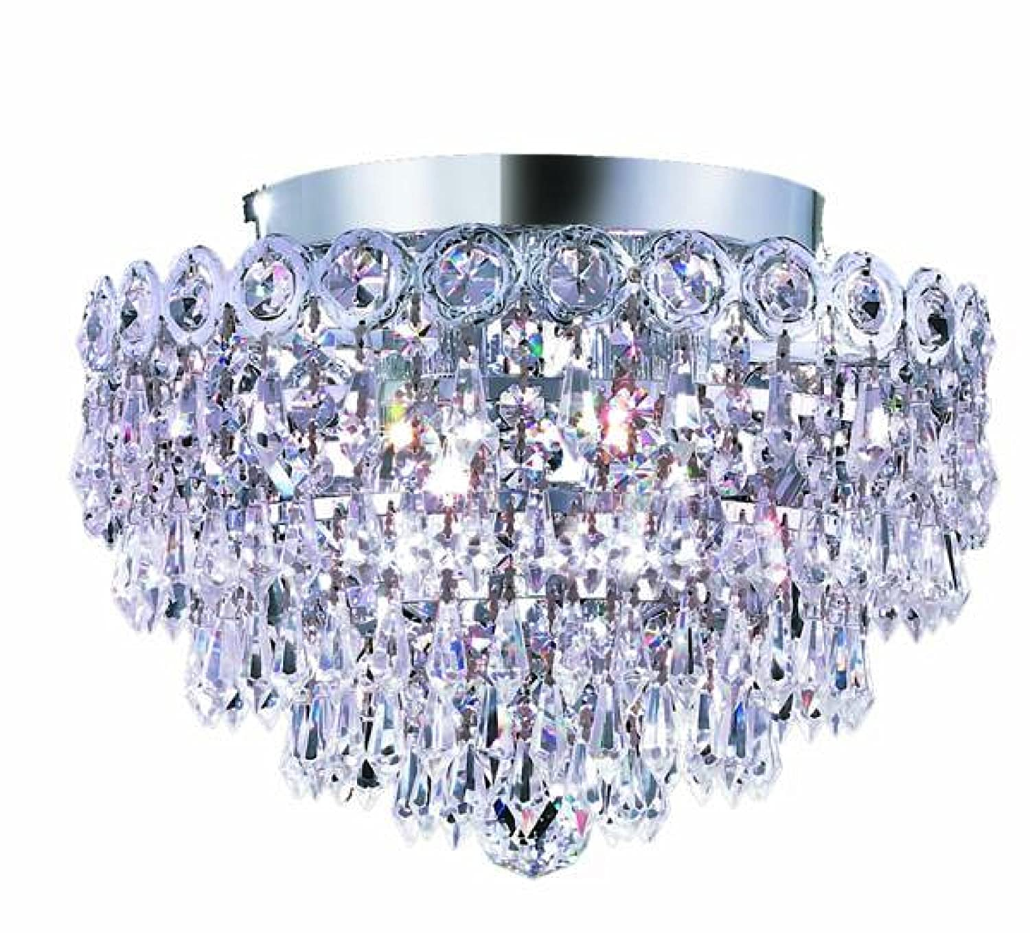 Elegant lighting 1902f12grc century 10 inch high 4 light flush elegant lighting 1902f12grc century 10 inch high 4 light flush mount gold finish with crystal clear royal cut rc crystal chandeliers amazon arubaitofo Choice Image