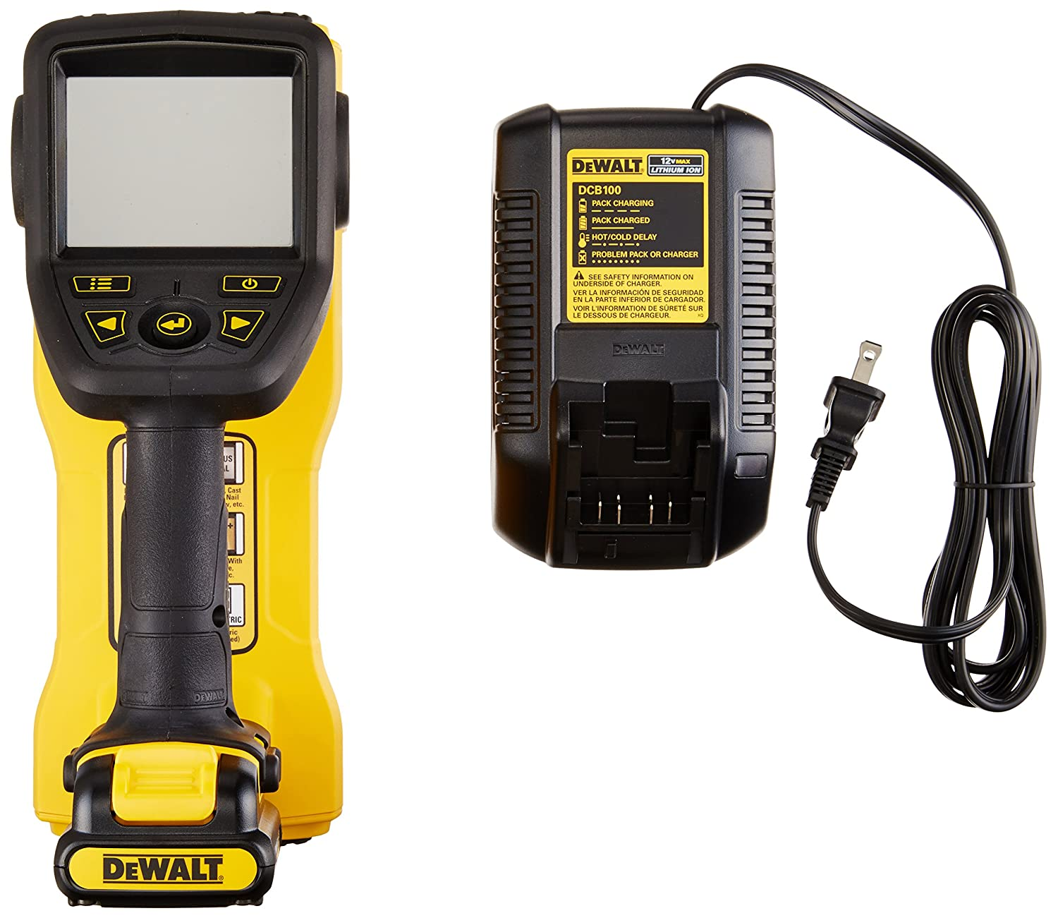 Dewalt Dct419s1 12v Max Hand Held Wall Scanner Place The Circuit Board In Cavity And Slot Battery Pack Into
