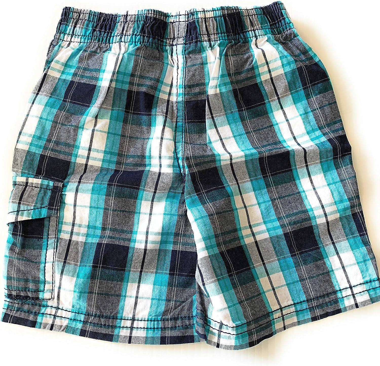 Toughskins Boys Plaid Shorts Size 18 Months Blue