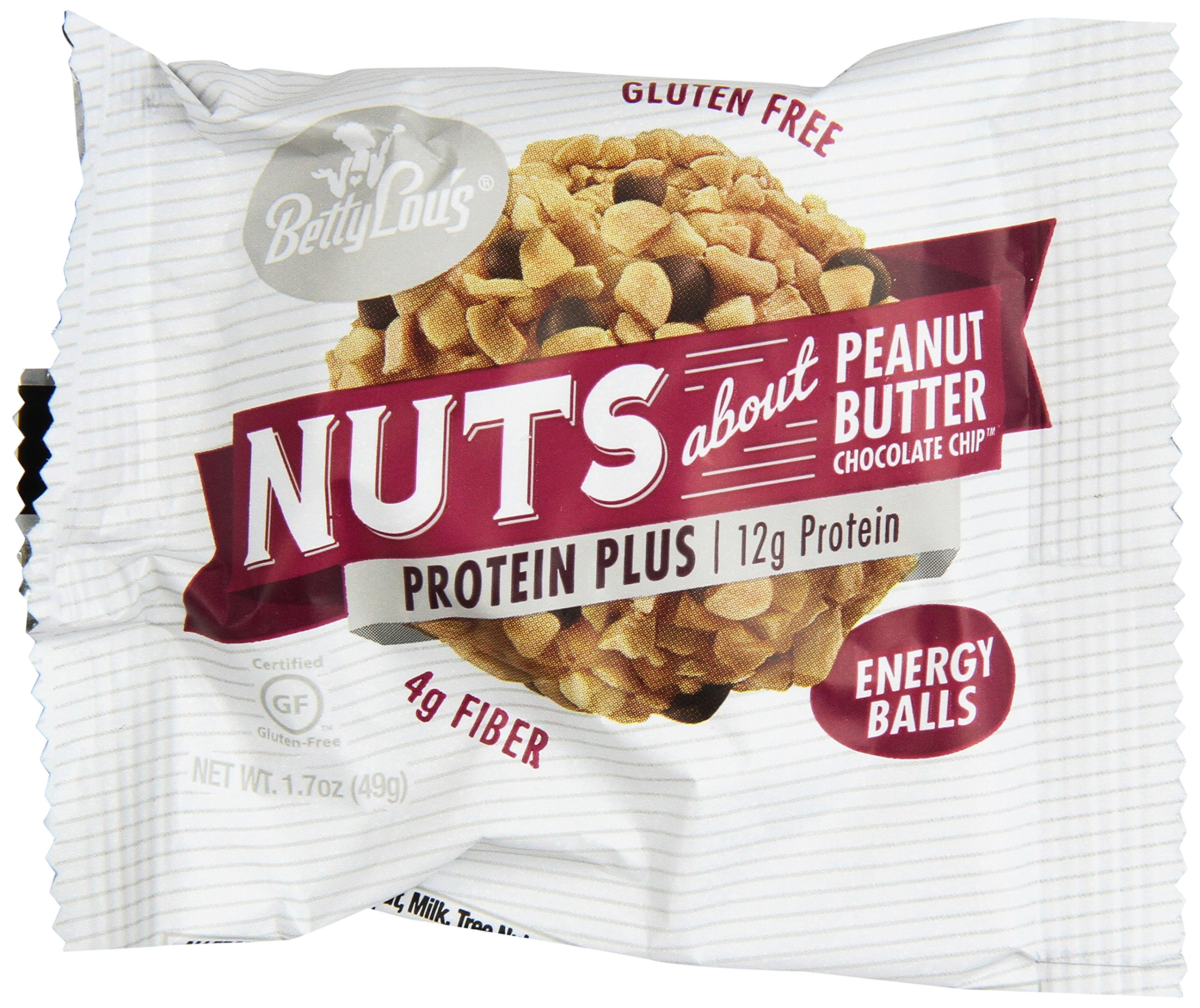 Betty Lou's Protein Plus Peanut Butter Choc. Chip 1.7oz Protein Balls - 12 Count Box by Betty Lou's