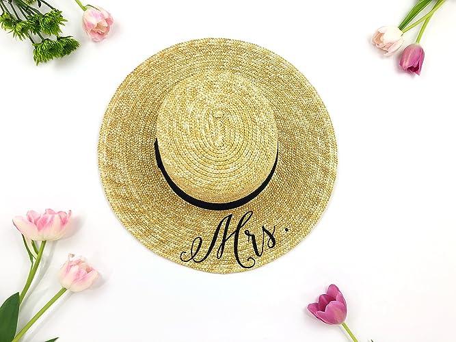 abd771a379c Custom Mrs Hat - Sequin Sun Hat - Bride Hat - Beach hat - Boat Hat - Boater  Hat - Bride to be hat - Beach Bride - Just Married Hat - Honeymoon Hat -  Wedding ...