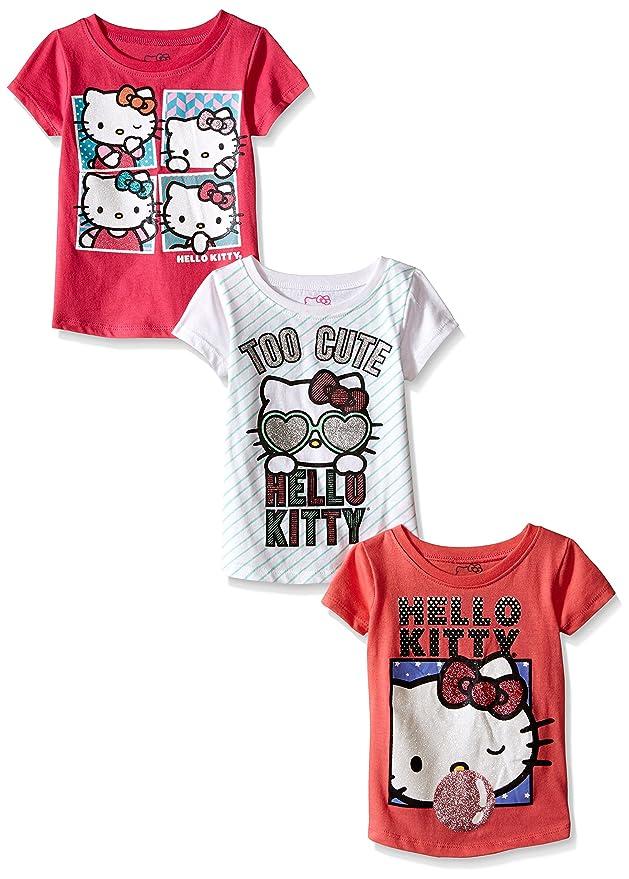 285a627a1 Amazon.com: Hello Kitty Girls' 3 Pack T-Shirt: Clothing