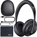 Bose Headphones 700 Noise-Canceling Bluetooth Headphones (Triple Black) (794297-0100) + AOM Bundle - International…